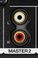 left and right phono outputs