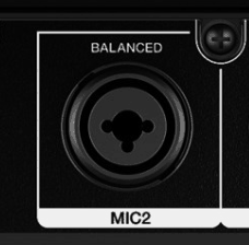 XLR and Jack input for microphone