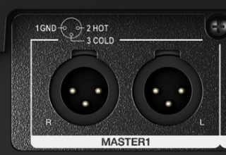 XLR left and right inputs