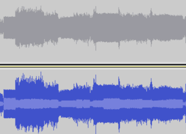 audio track showing the effects of compression